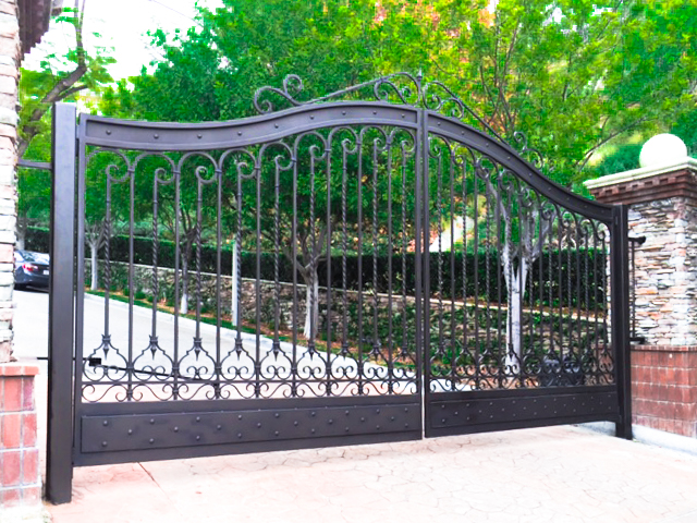 Hillside gate