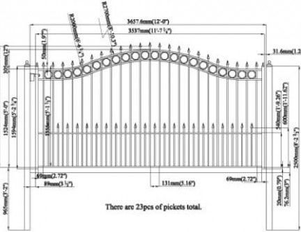 gate drawings & measures