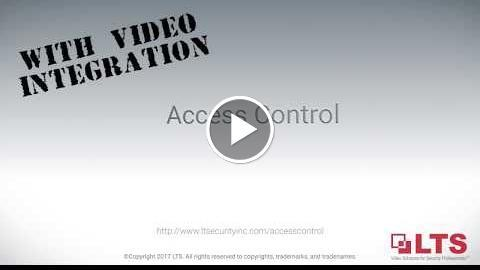 , Access Control With Video Integration Video