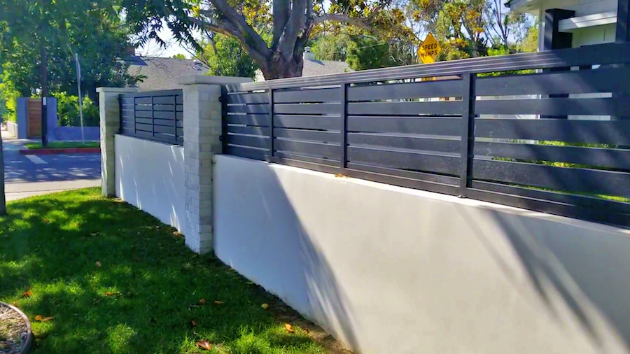 This aluminum extends the height of the wall and gives a nice look.