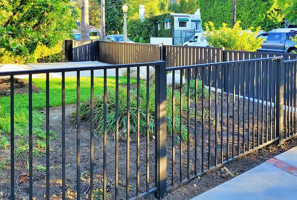 Aluminum Picket Fence for Studio City Property from Mulholland Brand