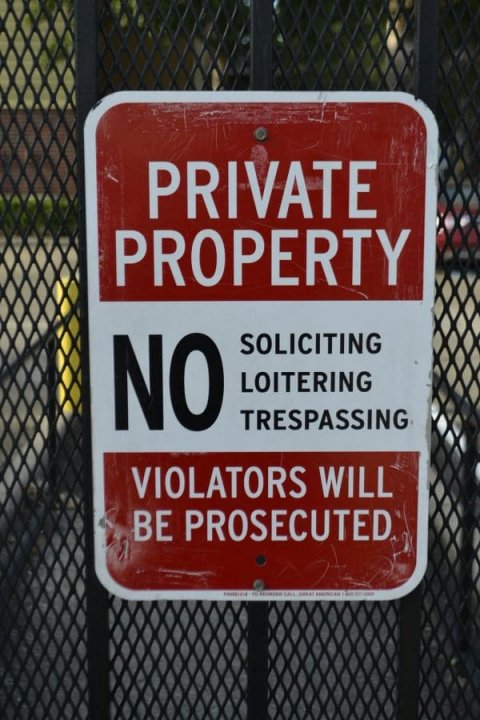 Keep solicitors away from property